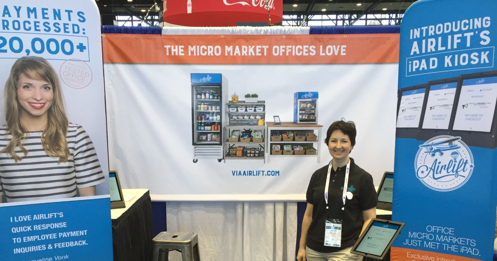Airlift booth at NAMA OneShow in Chicago, IL
